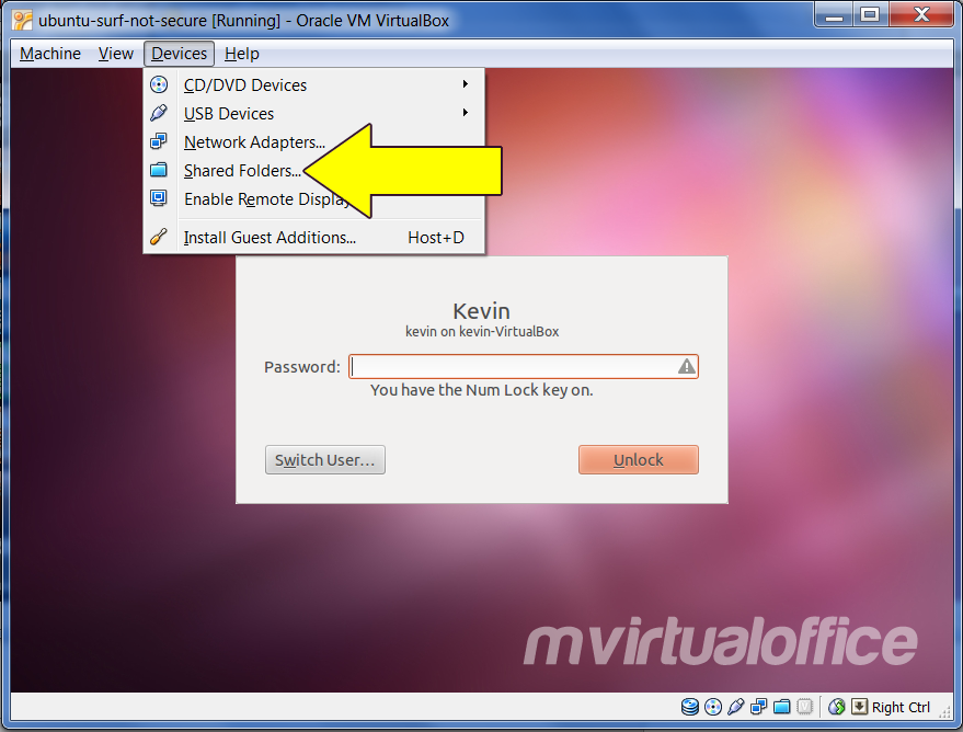 Easy file sharing between Windows 7 (host OS) and Ubuntu 11.10 (guest OS)